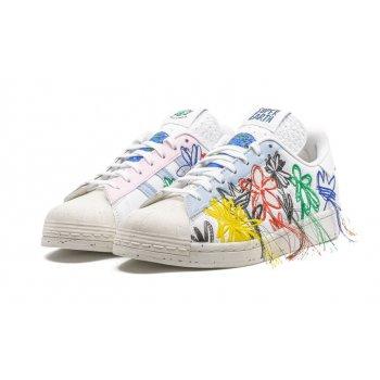 Skor Sneakers adidas Originals Superstar x Sean Wotherspoon White/Off-White