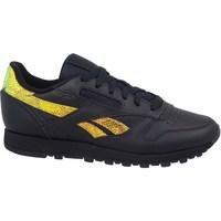 Skor Dam Sneakers Reebok Sport Classic Leather Svarta, Gula