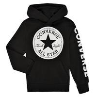 textil Pojkar Sweatshirts Converse SIGNATURE CHUCK PATCH HOODIE Svart