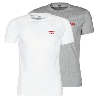 textil Herr T-shirts Levi's 2PK CREWNECK GRAPHIC Vit