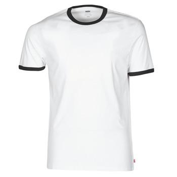 textil Herr T-shirts Levi's SS RINGER TEE Vit