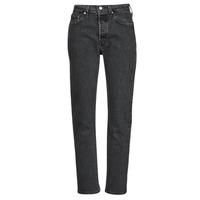 textil Dam Jeans boyfriend Levi's 501 CROP Svart