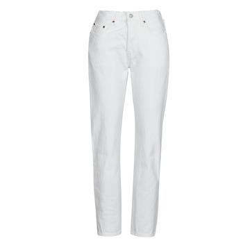 textil Dam Jeans boyfriend Levi's 501 CROP Vit