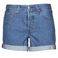 textil Dam Shorts / Bermudas Levi's 501 ROLLED SHORT Blå