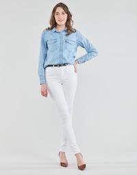 textil Dam Skinny Jeans Levi's 721 HIGH RISE SKINNY Vit