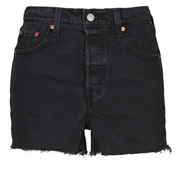 textil Dam Shorts / Bermudas Levi's RIBCAGE SHORT Svart
