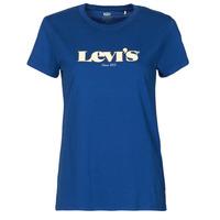 textil Dam T-shirts Levi's THE PERFECT TEE Blå