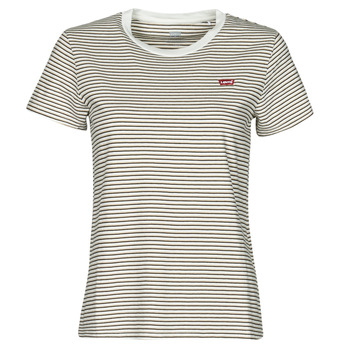 textil Dam T-shirts Levi's PERFECT TEE Beige
