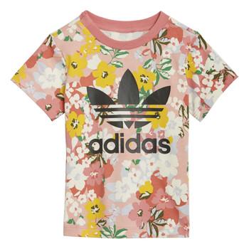 textil Flickor T-shirts adidas Originals DREZZI Flerfärgad