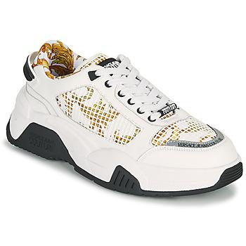 Skor Herr Sneakers Versace Jeans Couture HATINA Vit / Guldfärgad