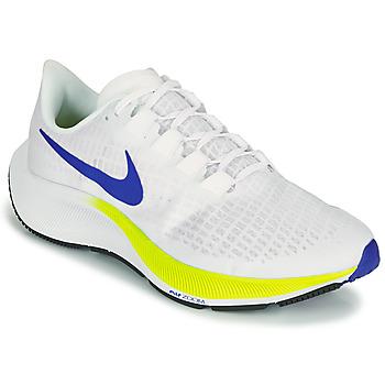 Skor Herr Löparskor Nike AIR ZOOM PEGASUS 37 Vit / Blå / Gul