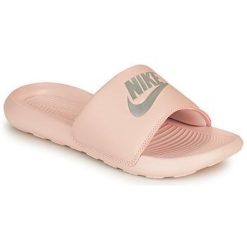 Skor Dam Flipflops Nike VICTORI ONE BENASSI Rosa / Silver