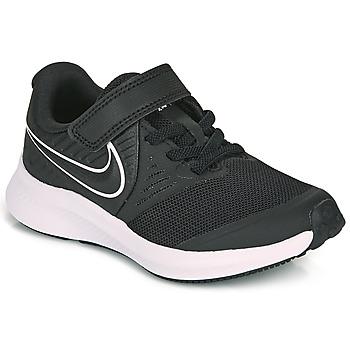 Skor Barn Träningsskor Nike STAR RUNNER 2 PS Svart / Vit