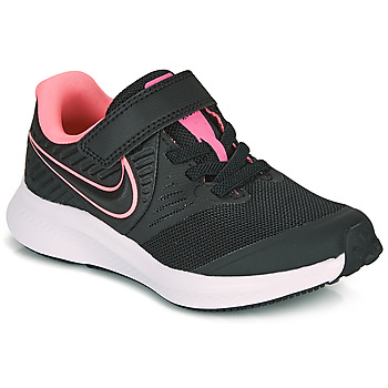 Skor Flickor Träningsskor Nike STAR RUNNER 2 PS Svart / Rosa