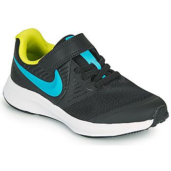 Skor Pojkar Träningsskor Nike STAR RUNNER 2 PS Svart / Blå