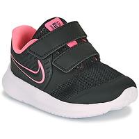 Skor Flickor Träningsskor Nike STAR RUNNER 2 TD Svart / Rosa