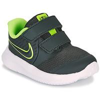 Skor Pojkar Träningsskor Nike STAR RUNNER 2 TD Svart / Grön