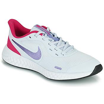 Skor Flickor Träningsskor Nike REVOLUTION 5 GS Blå / Violett