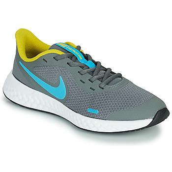 Skor Pojkar Träningsskor Nike REVOLUTION 5 GS Grå / Blå