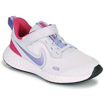 Skor Flickor Träningsskor Nike REVOLUTION 5 PS Blå / Violett