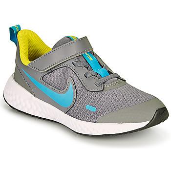 Skor Pojkar Träningsskor Nike REVOLUTION 5 PS Grå / Blå