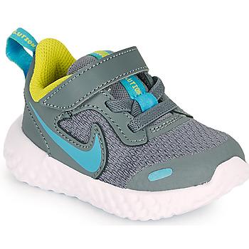 Skor Pojkar Träningsskor Nike REVOLUTION 5 TD Grå / Blå