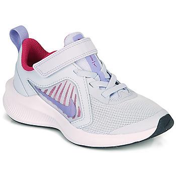 Skor Flickor Träningsskor Nike DOWNSHIFTER 10 PS Blå / Violett