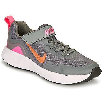 Skor Flickor Träningsskor Nike WEARALLDAY PS Grå / Rosa