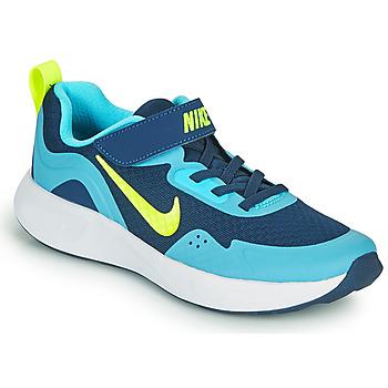 Skor Pojkar Träningsskor Nike WEARALLDAY PS Blå / Grön
