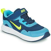 Skor Pojkar Träningsskor Nike WEARALLDAY TD Blå / Grön