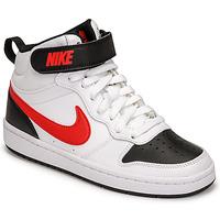 Skor Pojkar Sneakers Nike NIKE COURT BOROUGH MID 2 Vit / Röd / Svart