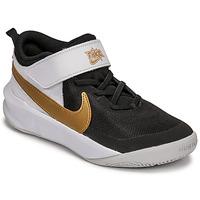 Skor Barn Träningsskor Nike NIKE TEAM HUSTLE D 10 Vit / Svart / Guldfärgad