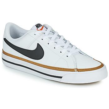 Skor Barn Sneakers Nike NIKE COURT LEGACY Vit / Svart