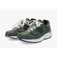Skor Sneakers New Balance JJJJound x New Balence 992 Green Green - Grey