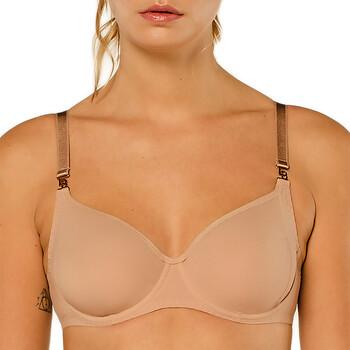 Underkläder Dam Balconette-bh Louisa Bracq 474-01 CHR Beige