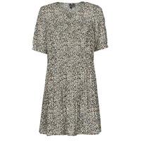 textil Dam Korta klänningar Vero Moda VMELIN Beige