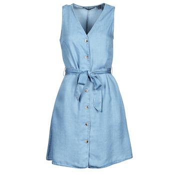 textil Dam Korta klänningar Vero Moda VMVIVIANA Blå / Ljus