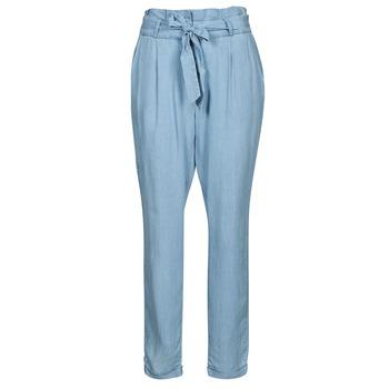 textil Dam Chinos / Carrot jeans Vero Moda VMVIVIANAEVA Blå / Ljus