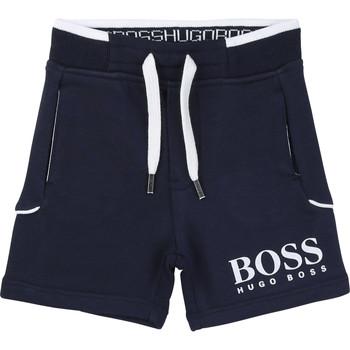 textil Pojkar Shorts / Bermudas BOSS J04M57-849-C Marin