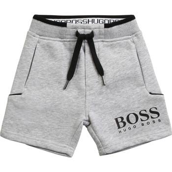 textil Pojkar Shorts / Bermudas BOSS J04M57-A32-B Grå
