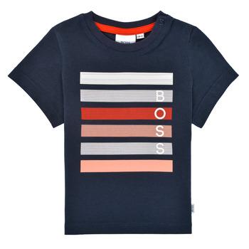 textil Pojkar T-shirts BOSS ENOLITO Marin