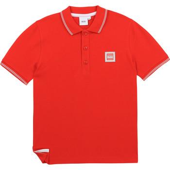 textil Pojkar Kortärmade pikétröjor BOSS BARBORA Röd