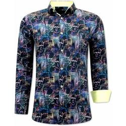 textil Herr Långärmade skjortor Tony Backer A Slim Fit Svart