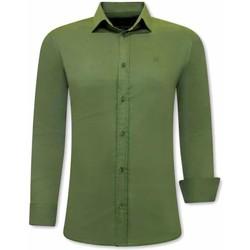textil Herr Långärmade skjortor Tony Backer Business Skjorta Grön