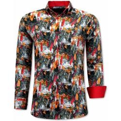textil Herr Långärmade skjortor Tony Backer A Slim Fit Orange Röd