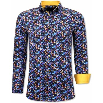 textil Herr Långärmade skjortor Tony Backer A Slim Fit Blå