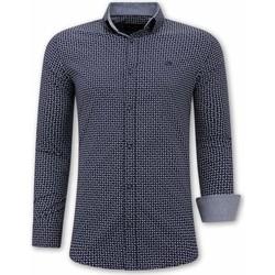 textil Herr Långärmade skjortor Tony Backer För Blå