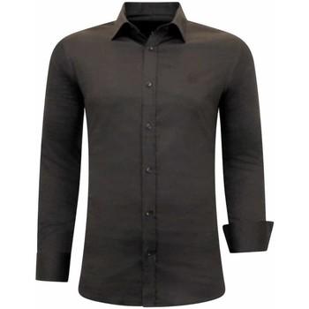 textil Herr Långärmade skjortor Tony Backer Business Skjorta Brun