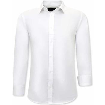 textil Herr Långärmade skjortor Tony Backer Business Skjorta Vit