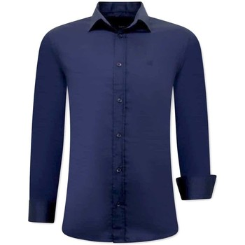 textil Herr Långärmade skjortor Tony Backer Business Skjorta Blå